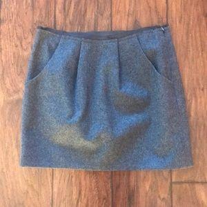 J. Crew Grey Wool Skirt Size 0